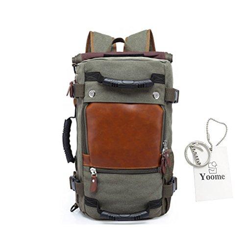 Borse da viaggio multiuso Yoome per Uomo Canotta zaino Zaino Laptop Dayback Travel College Escursioni Escursioni alpinismo Weekend Bag Borse a tracolla Borse - Khaki Grigio