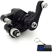 stoneder negro frontal de acero freno de disco rotor calibre para 33cc 43cc 47cc 49cc para bicicleta de bolsillo 2tiempos de 50cc minimoto Mini Moto Scooter Dirt Bike bebé Crosser goped Go Kart ATV Quad 4wheeler