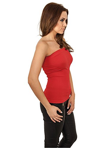 Urban Classics Damen Ladies Strapless Top Red-