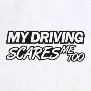 My Driving scares me too V1 - Stofftasche / Beutel Weiß