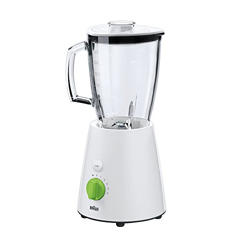 Braun TributeCollection JB 3060 Standmixer | 800 W Leistung | 24.500 U/min | 1,75 l ThermoResist Glas Mixbehälter | Geeignet als Smoothie Maker, Ice Crusher | Weiß