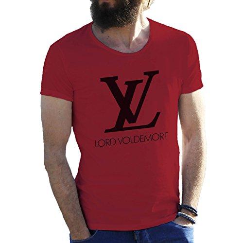 Harry Potter LV Lord Voldemort Borgoña Camiseta para hombre Medium