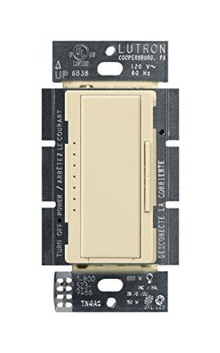 Lutron Maestro 150-watt CFL/LED Digital mit mehreren Dimmer, elfenbeinfarben 600.0W 1.00V Lutron Beleuchtung
