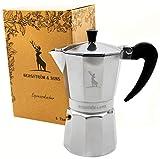 Bergström & Sons Espressokocher | Espressokanne aus Aluminium | Camping Kaffeekocher | Moka-Kanne