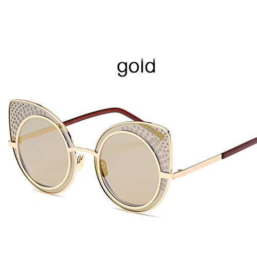 ZJWZ Ladies Trend Sonnenbrillen europäischen und AmerikaNischen Stil Cat Eye Sonnenbrillen Retro Bunte Sonnenbrillen,NO6