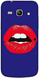 Snoogg Red Lips Kiss Hard Back Case Cover Shield For Samsung Galaxy Core 2