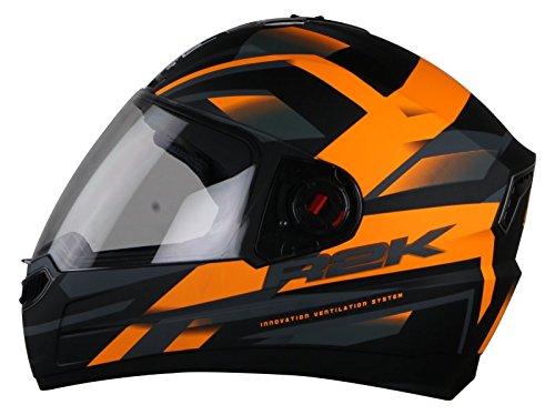 Steelbird Steel041 SBA-1 R2K Full Face Helmet (Matt Black and Orange, L)