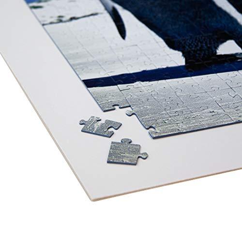 Rückwände Puzzle Karton zum Aufkleben von Puzzles - selbstklebend - mit Aufhänger - Stärke: 2,5mm Puzzle Fix - Board - aufhängen - (Größe: 50x70cm)