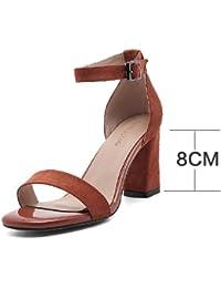 Chaussures étudiante, Sandales s'adaptent tous les chaussures avec semelles épaisses Sandales mot de Rome, 40