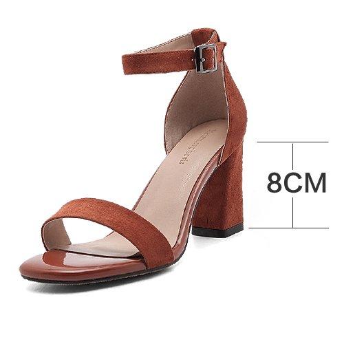 estate glassati scarpe di cuoio con un paio di scarpe, scarpe e sandali, donne e le scarpe rosso mattone