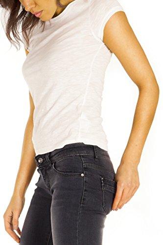 Bestyledberlin Damen Skinny Jeans, Basic Denim Röhrenjeans eng j83kw Street Grey