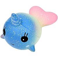 Isuper Squishy Kawaii,Ballena Squishy Juguete,Jumbo Squishy,Squishy Toy Perfumada Lenta Levantar Exquisito Niño Juguete Suave(Unicornio/Galaxia)