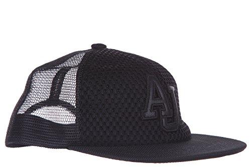 Armani Jeans cappello berretto regolabile uomo originale nero EU M C6430 U9 12