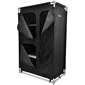 41yH7xTWVRL. SS300  - Andes Foldable 4 Shelf Camping Cabinet Tent Storage Wardrobe Cupboard