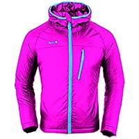 Izas VELAY Padded Jacket with Hood, Mujer, Fuxia/Turquoise, M