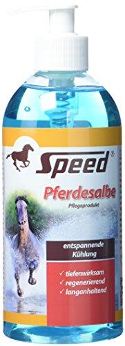 Speed Pferdesalbe kühlend & wärmend (500 ml) für strapazierte Muskeln, Gelenke & Verspannungen, Pferdegel zur Regeneration, Muskelsalbe für Pferde