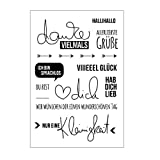 Xurgm Deutsch Silikonstempel Set - Clear Stamps - Stempel - transparent