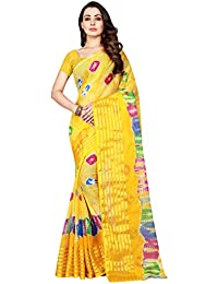 SVB Sarees Chiffon Saree With Blouse Piece