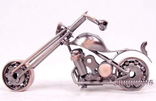 OYQQ Skulptur Statue Motorrad Modell Statue Dekoration Metall handgefertigt Eisen Motorrad Prop Hause Junge Spielzeug Retro Dekoration, M39-1, 14x5x9 cm