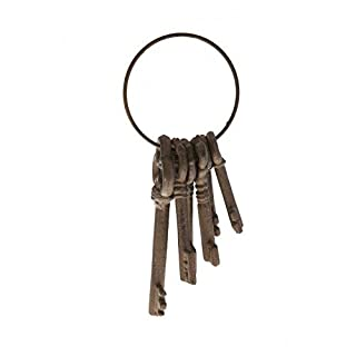 Antic Line - 6 keys keychain aged metal