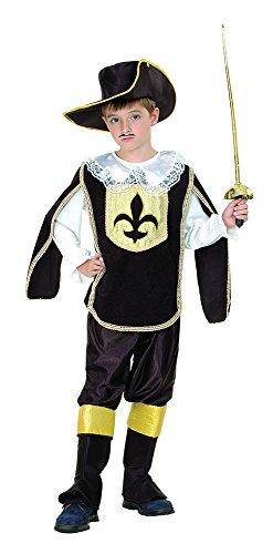Musketiere Kostüm Für Kinder (Musketier - Kinder Kostüm - Klein - 110 bis 122)