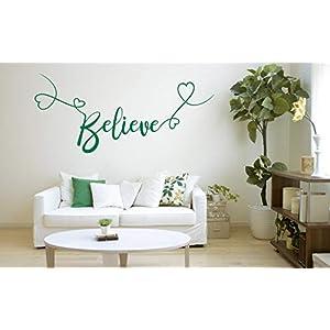 Believe, Vinyl, Wandkunst Aufkleber, Wandbild, Aufkleber. Haus, Wanddekoration, Küche, Esszimmer, Schlafzimmer.