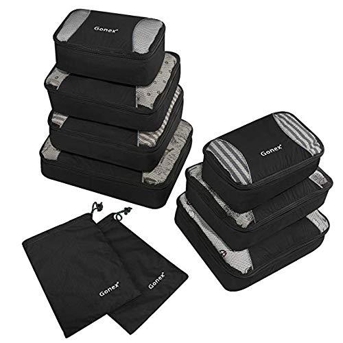 Gonex – 9 packs Organizador para maletas/Viaje Bolsas de Embalaje/Al