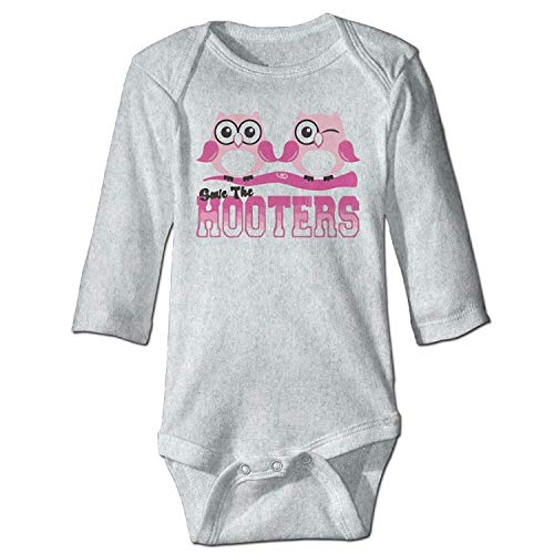 MSGDF Unisex Toddler Bodysuits Save The Hooters Baby Babysuit Long Sleeve Jumpsuit Sunsuit Outfit Ash