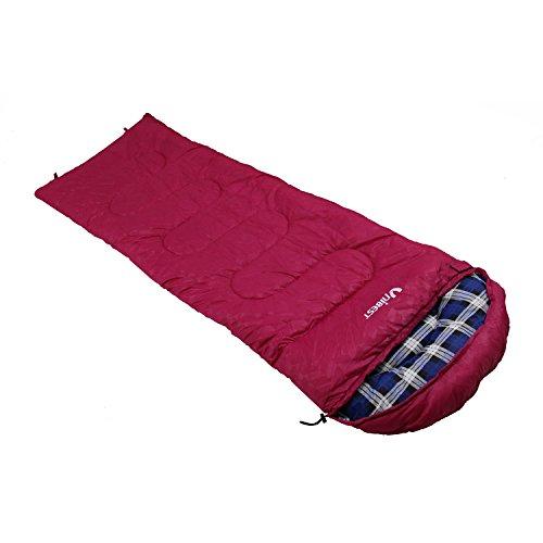 Unibest Deckenschlafsack mit Kopfteil NS70 Baumwolle Reißverschluss rechts - rot