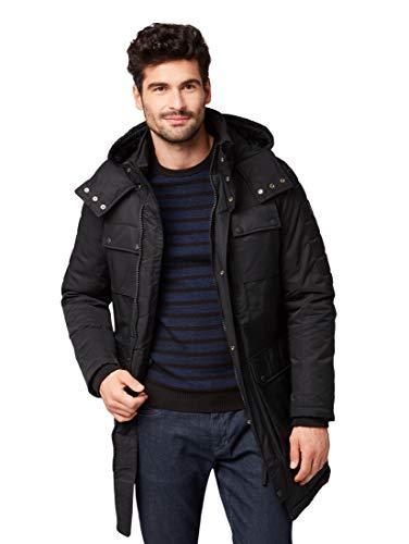 TOM TAILOR für Männer Jacken & Jackets Gefütterter Parka mit Kapuze Black, S | 04062105568744