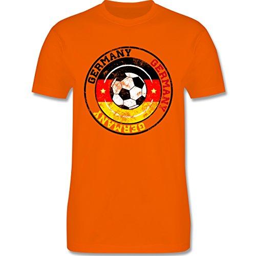 EM 2016 - Frankreich - Germany Kreis & Fußball Vintage - Herren Premium T-Shirt Orange