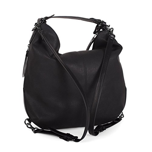 LOIS - 22770 BORSA ZAINO IN PELLE ARIZONA Nero