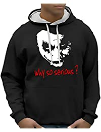 Coole-Fun-T-Shirts Herren Sweatshirt Why So Serious ? Joker Bico Hoodie mit Kapuze