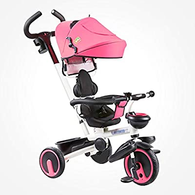 LYDB Trikes for Toddlers,Portable Bike Kids Child Tricycle 1-6 Years Old Baby Preschool Bicycle (Color : Pink)