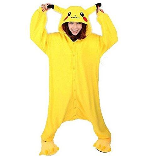 trampler Japan Anime Pikachu Pokemon kigurumi-pyjamas Kapuze Pyjama, Pikachu L (Pikachu Kostüm Japan)