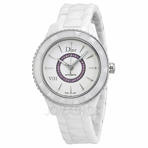 christian-dior-dior-viii-automatic-white-ceramic-steel-womens-watch-pink-sapphires-cd1245efc001