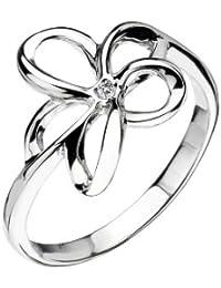 Hot Diamonds Plumeria Silver And Diamond Ring