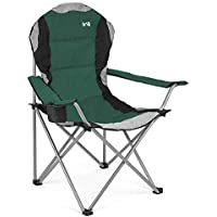 Trail Outdoor Leisure Padded Folding Camping Chair Heavy Duty High Back Directors Cup Holder