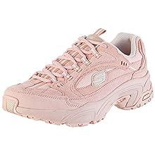 Skechers Women's Stamina Trainers, Pink (Pink Suede/Mesh/Trim Pnk), 6 UK (39 EU)