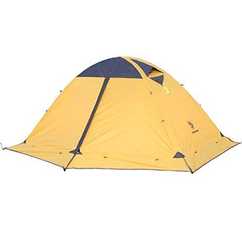 TRIWONDER 2 Person 4 Saison Camping Backpacking Zelt mit Rock Edge Doppeltüren Leichte wasserdichte Doppelschicht für Camping Wandern (Gelb) -