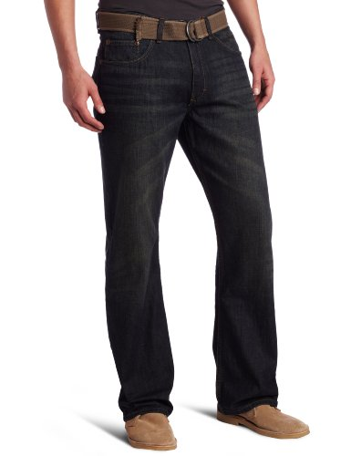 Lee Men's Dungarees Belted Relaxed Fit Bootcut Jean - Lee Belted Jeans