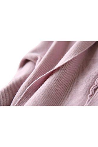 Sciolto aperto anteriore manica lunga Cardigan corto Yacun femminile Pink