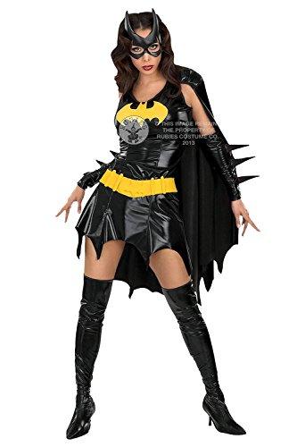 Für Kostüme Batgirl Frauen (Rubies - Verkleidung Batgirl Damen Kostüm für Erwachsene Superheld Outfit - Schwarz, S -)