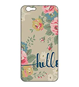 Happoz hello floral design Vivo Y55L back covers Mobile Cases Phone Panel Printed Fancy Pouches Accessories Z425