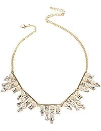 Lureme Moda perlas de imitación y lujoso collar colgante de cristal pendiente(nl005415)