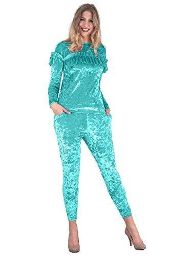 Love My Fashions - Survêtement - Manches Longues - Femme or doré S/M bleu eau