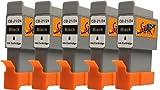 Start - 5 Ersatz Patronen kompatibel zu BCI-21 / BCI-24, Schwarz für Canon Pixma iP1000, iP1500, iP2000, MP110, MP130, MP390, i250, i255, i320, i350, i355, i450, i455, i470D, i475D, Smartbase MP360, MP370, MP375R, MP390, MPC190, MPC200, Pixus 320i, 455i, 475PD, MP10, MP360, MP370, MP375R, MP390, MP5, imageClass MPC190, MPC200, S200, S210, S300, S330, S330 Photo, Multipass F20, MP360, MP370