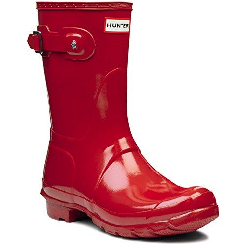 Donna Hunter Original Short Gloss Inverno Pioggia Stivali Gomma Stivali - Militare Rosso - 42