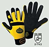 FerdyF Clarino®-Kunstleder Montagehandschuh Größe (Handschuhe): 8, M EN 388 Cat II Mechanics Ant