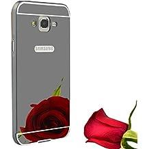 Funda Espejo Aluminio Metal Carcasa para Samsung Galaxy Grand Prime G530H G5308W Color Negro